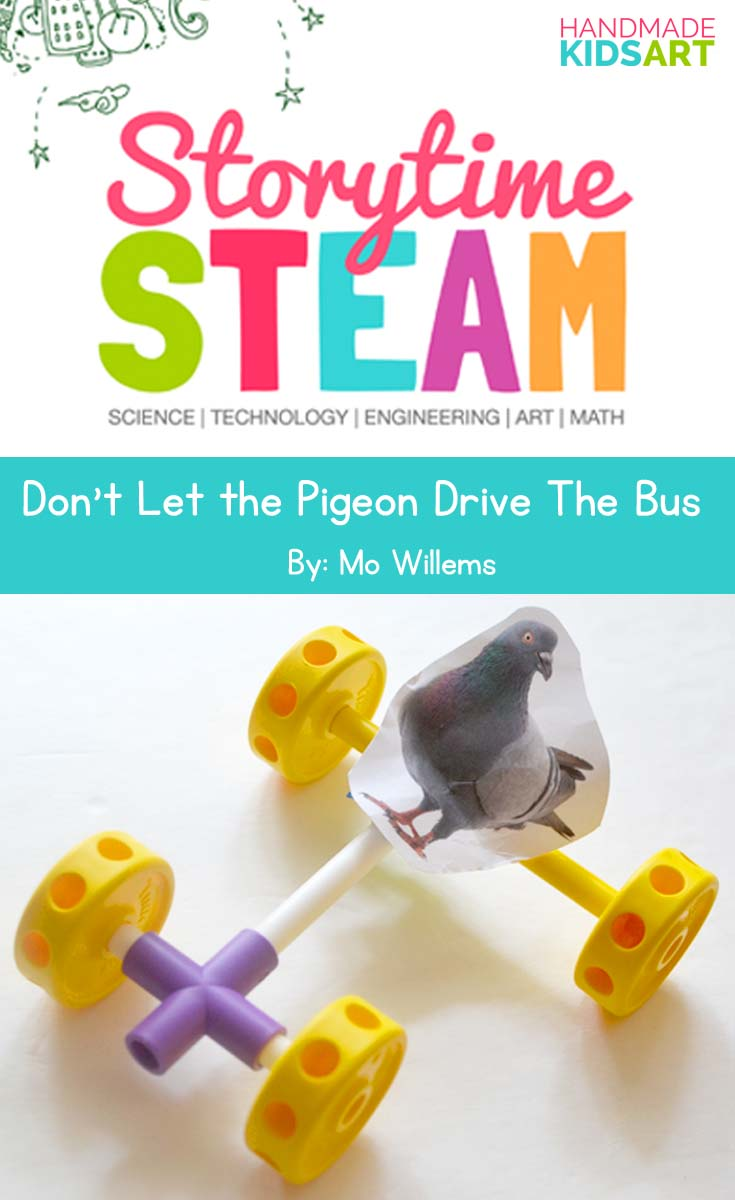 storytime steam Pigeon pin template