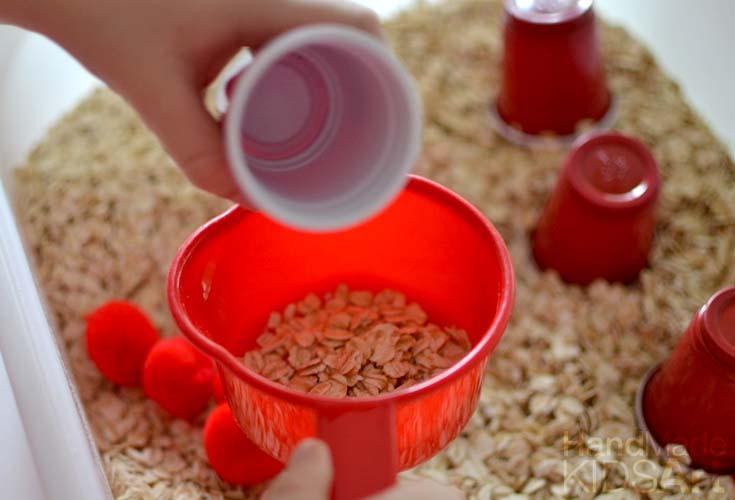 oatmeal sensory bin