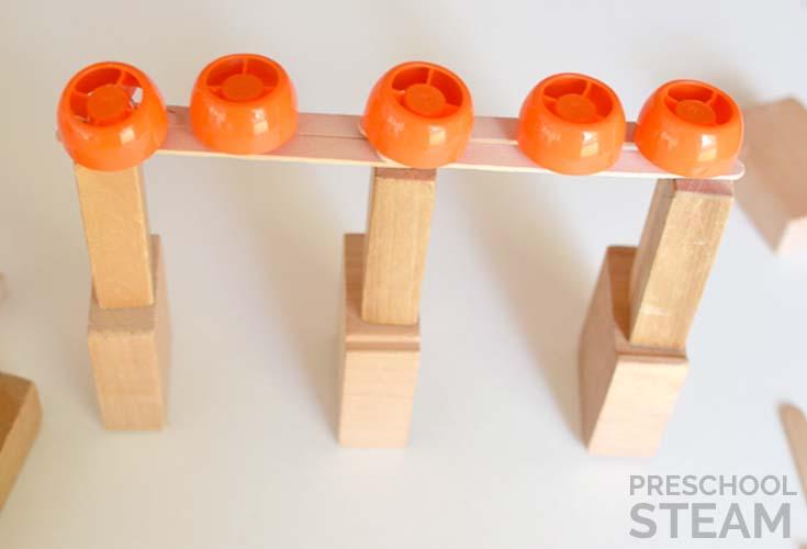 5 pumpkins STEM challenge