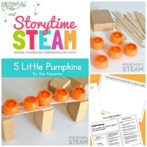 5 Little Pumpkins Preschool STEM Activity