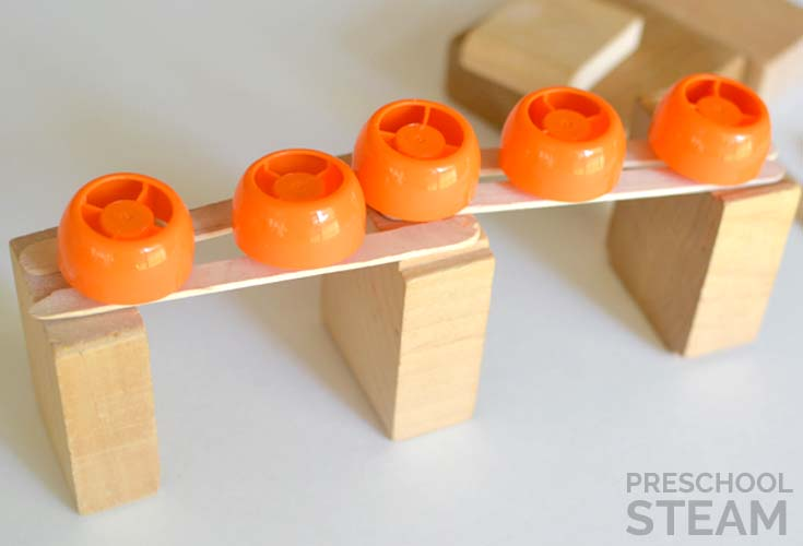 Preschool STEM for 5 Little Pumpkins