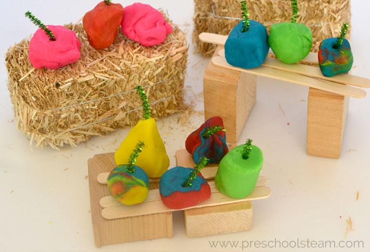 Spookley the Pumpkin Inspired Play Dough Pumpkin Patch