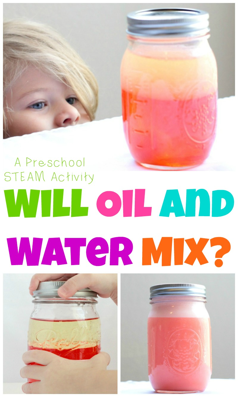 oil and water mix