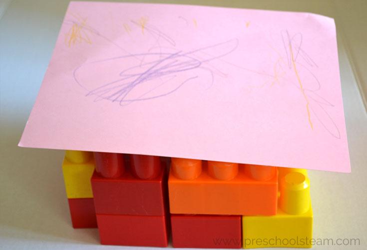 Build a Turkey Hideout Preschool STEM