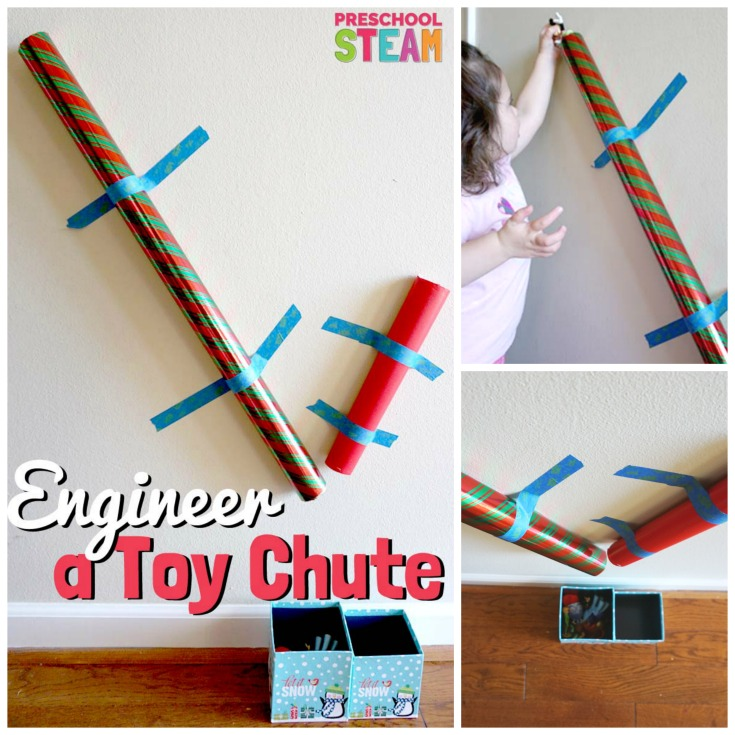 A Preschool STEAM Activity: Build a Toy Chute