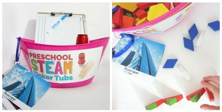 Preschool STEAM Tinker Tubs