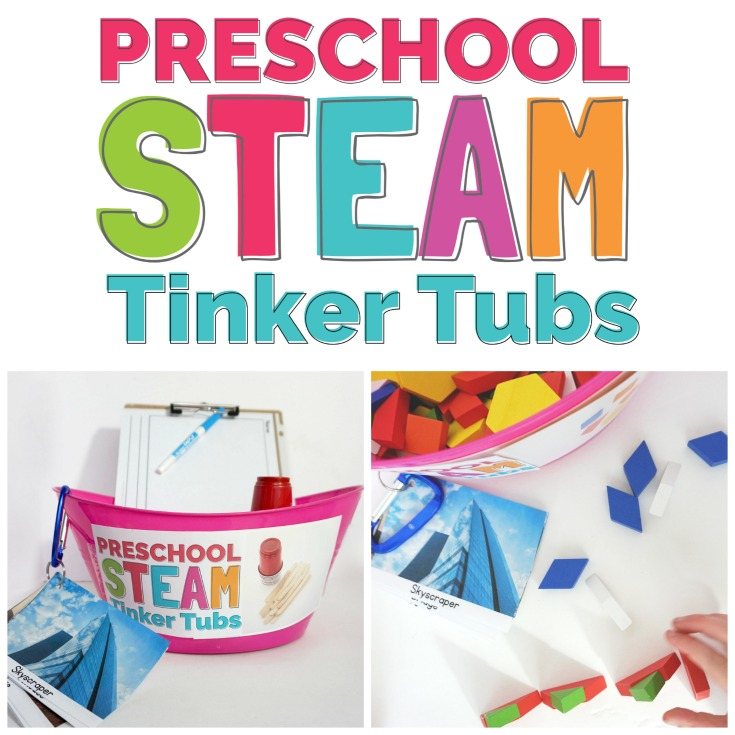 Preschool STEAM Tinker Tubs