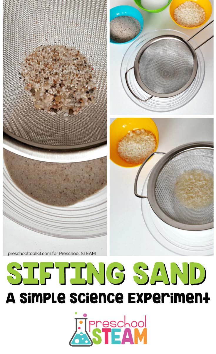 Sifting sand simple science for preschoolers preschool for Waste material activity