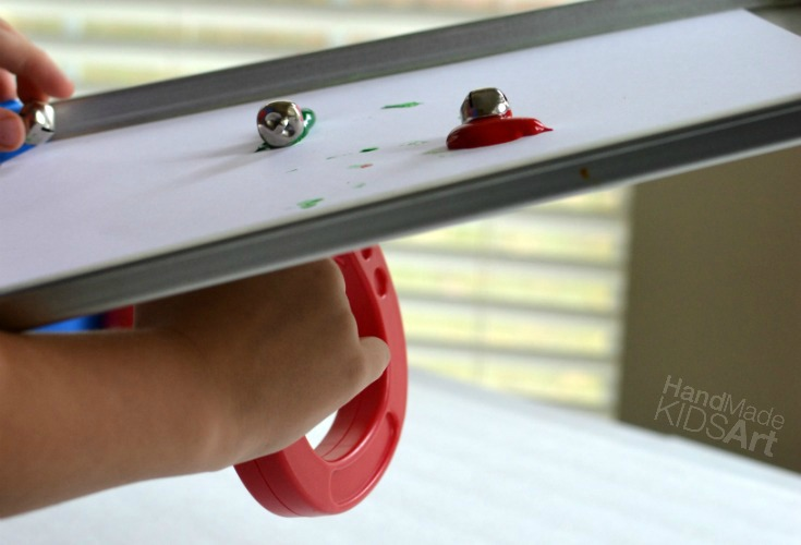 Magnetic Jingle Bell Painting STEAM Activity