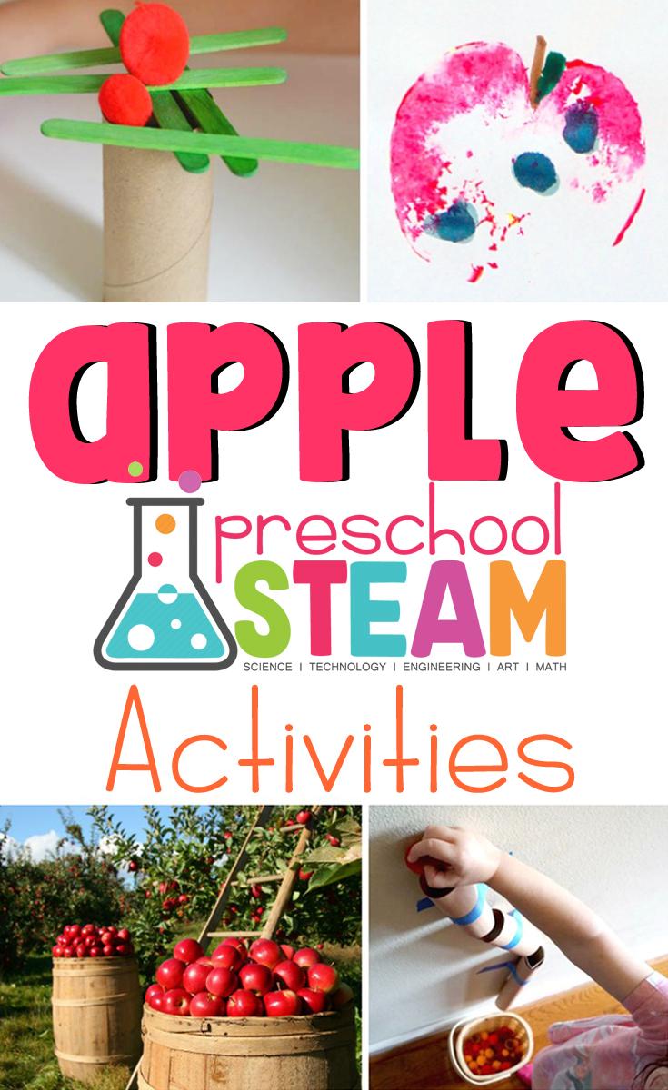 Apple STEAM Activities for Preschoolers