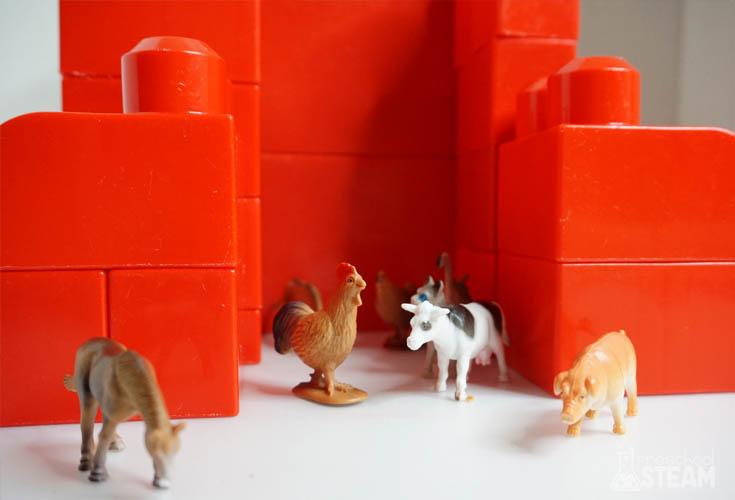 big red barn animals