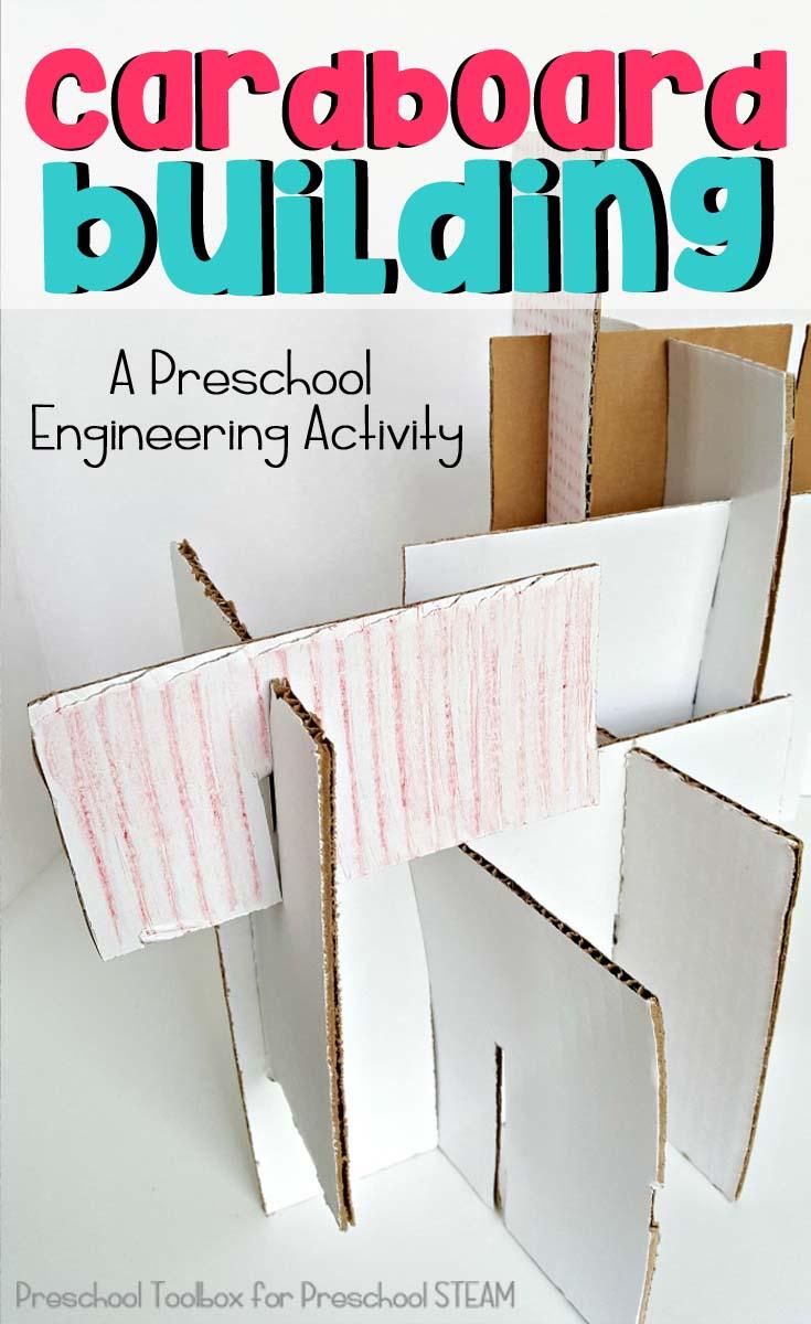 cardboard building pin
