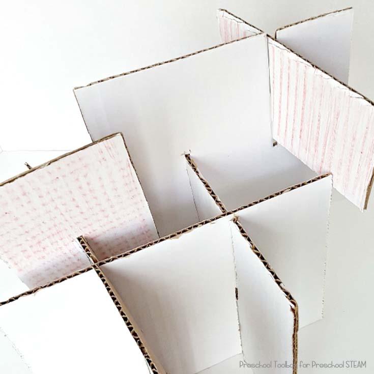 cardboard building sq