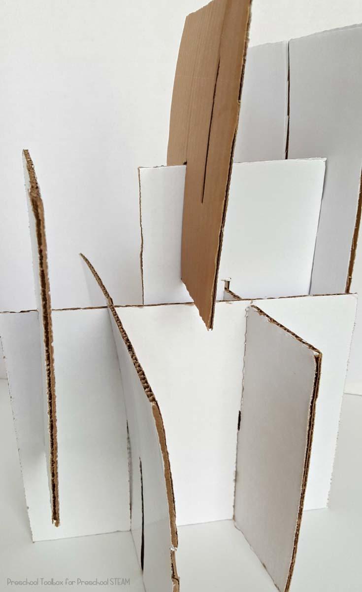 cardboard building vertical