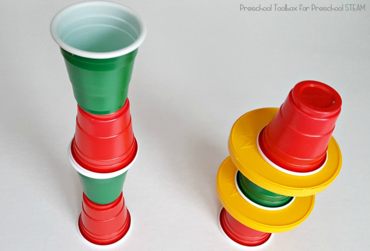 Preschool Engineering with Cups