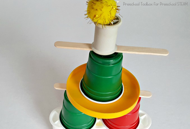 STEAM Activity for Preschoolers with Cups