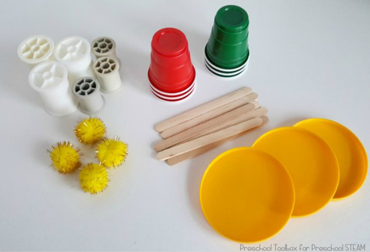 Stacking Cup Materials for Preschool Engineering