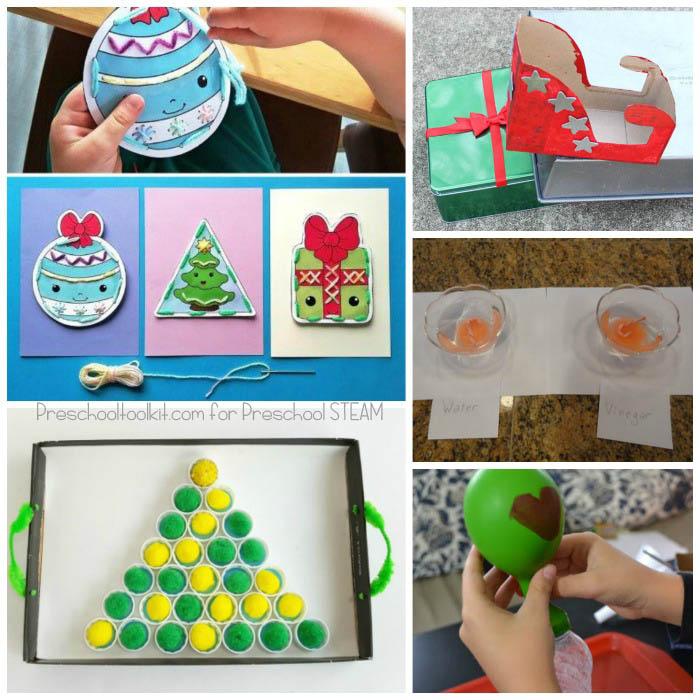 Christmas STEAM Activities for Preschoolers