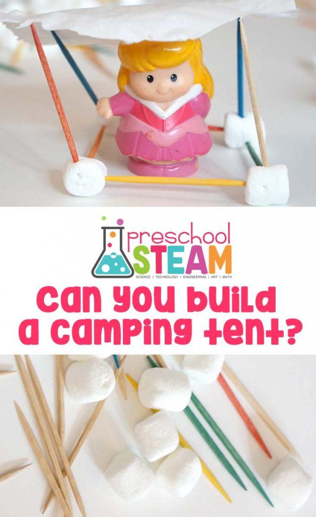 Camping STEAM Challenge for Preschoolers!
