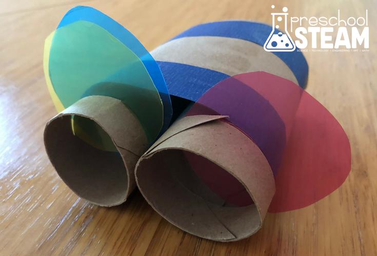 cardboard color changing glasses